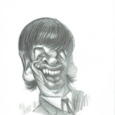 Cómics: PAUL MC.CARTNEY - CARICATURA ORIGINAL - JOAN VIZCARRA. Lote 175681235