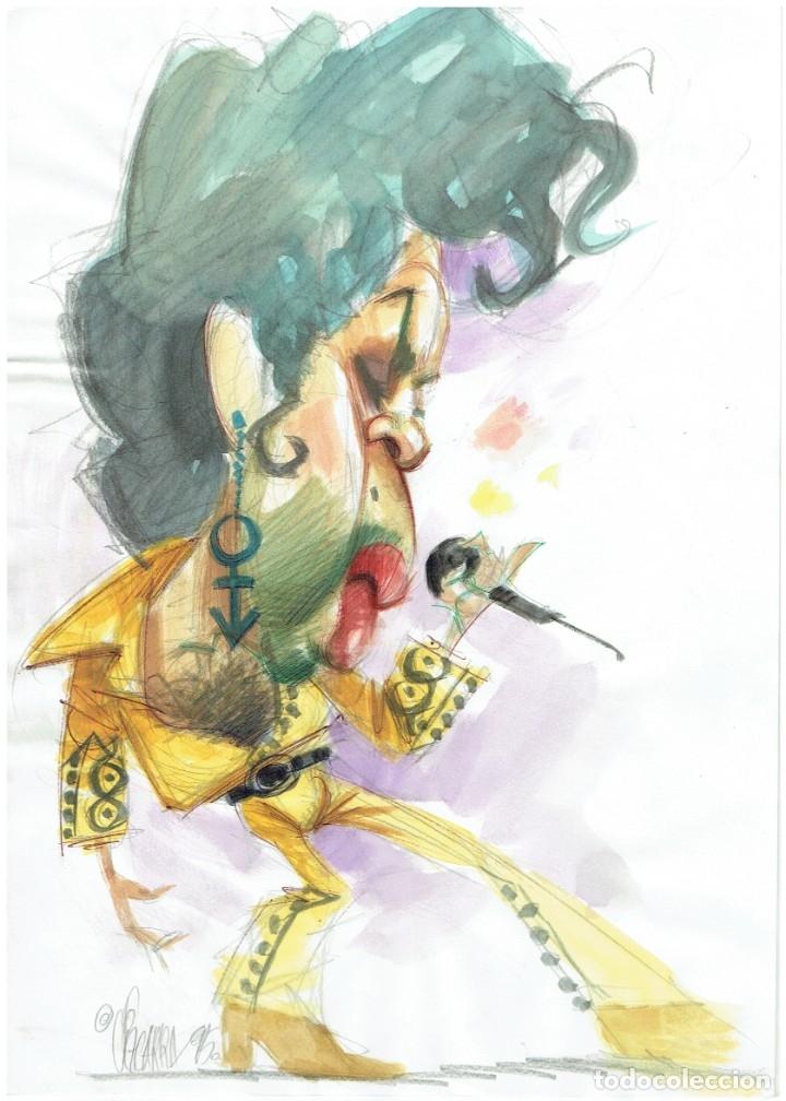 PRINCE - CARICATURA ORIGINAL - JOAN VIZCARRA (Tebeos y Comics - Art Comic)