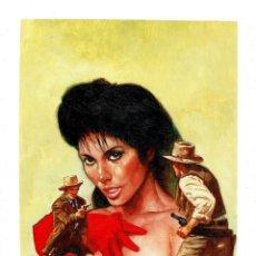 Cómics: WESTERN COVER #5 - PORTADA ORIGINAL - SANJULIAN. Lote 175750787