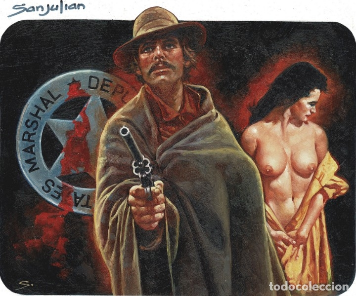 Cómics: WESTERN COVER #3 - Portada Original - SANJULIAN - Foto 2 - 175751254