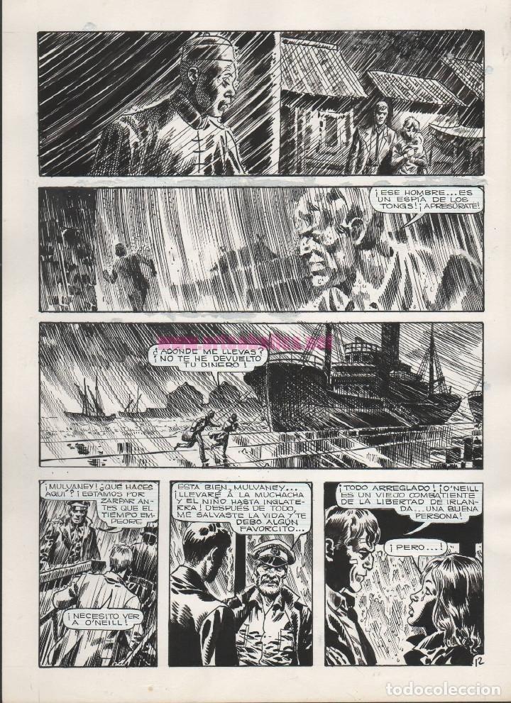PÁGINA ORIGINAL DE ENRIQUE ALCATENA : SINGAPUR PG 12 (Tebeos y Comics - Art Comic)