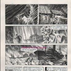 Cómics: PÁGINA ORIGINAL DE ENRIQUE ALCATENA : SINGAPUR PG 12. Lote 175897305