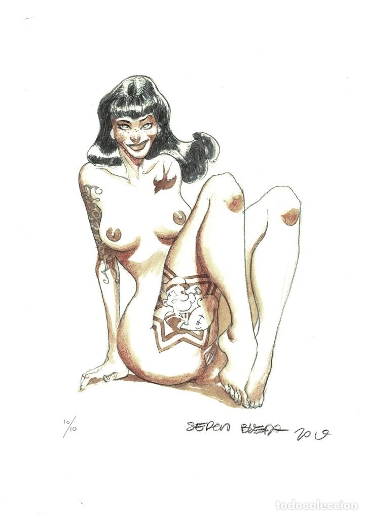 EROTICO #4 - GICLÉE EDICIÓN LIMITADA - SERGIO BLEDA (Tebeos y Comics - Art Comic)
