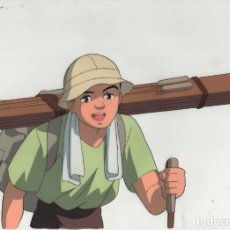Cómics: IGAYA CHIHARU MONOGATARI ORIGINAL JAPANESE ANIMATION CEL W/DOUGA A27 ACETATO CEL-GA CON LAPIZ. Lote 177031478