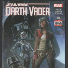 Cómics: STAR WARS DARTH VADER Nº 3 MARVEL COMICS FIRMADO POR SALVADOR LARROCA. Lote 178130949
