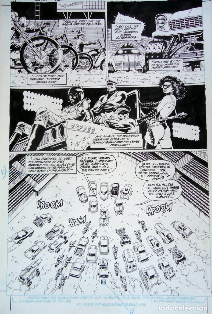 PAUL GULACY - ARTE ORIGINAL - SLASH MARAUD #3 PG.11 (Tebeos y Comics - Art Comic)