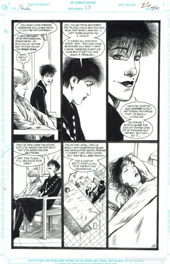 SHADE, THE CHANGING MAN #13 PG.26 - CHRIS BACHALO - ARTE ORIGINAL (Tebeos y Comics - Art Comic)