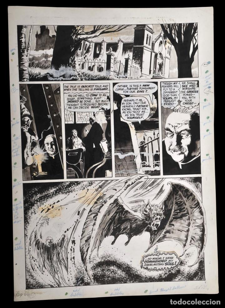 DRACULA LIVES! #4 PG.40 - ARTE ORIGINAL - VICENTE ALCAZAR (Tebeos y Comics - Art Comic)