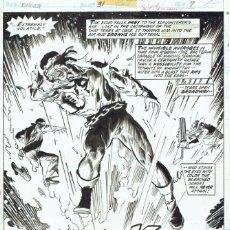 Cómics: POWER MAN #31 PG. 7 - SAL BUSCEMA Y NEAL ADAMS - FIRMADA POR AMBOS. Lote 179095675