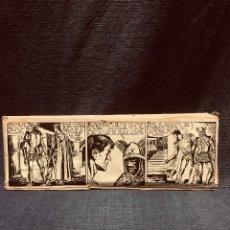 Cómics: ORIGINAL TIRA METAL PLOMO PLANCHA ESTUDIOS HISTOGRAF 1954 ESPAÑA 7,5X21CMS. Lote 180082572