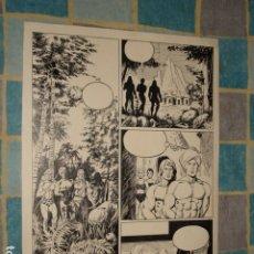 Comics: SIMBAD, DIBUJO ORIGINAL DE LA PÁGINA 3. BATTAGLIA, BUEN ESTADO. Lote 181118535