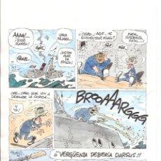 Cómics: PÁGINA ORIGINAL DE LA SERIE LA FRAGATA CAPADORA POR RAF. Lote 181145238