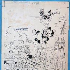 Fumetti: DIBUJO ORIGINAL PLUMILLA, PORTADA PUMBY Nº 311 , J. SANCHIS , 1 HOJA , M6. Lote 182170366