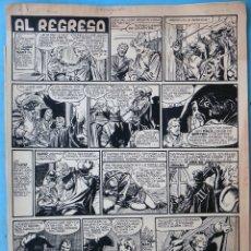Cómics: DIBUJO ORIGINAL PLUMILLA, M. QUESADA , EL REGRESO , 1951 , 2 HOJAS , M6. Lote 182170650