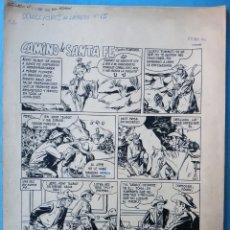 Cómics: DIBUJO ORIGINAL PLUMILLA JOSE GRAU CAMINO DE SANTA FE 1959 6 HOJAS , M6. Lote 182171258