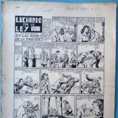 Cómics: DIBUJO ORIGINAL PLUMILLA IBAÑEZ LUCHANDO POR LA LEY AVENTURA COMPLETA 1953 8 HOJAS O PLANCHAS M6. Lote 182171447