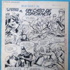 Cómics: DIBUJO ORIGINAL PLUMILLA, EL GUERRERO DEL ANTIFAZ , 1976 , 7 HOJAS O PLANCHAS , M6. Lote 182284146