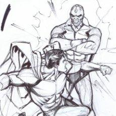 Cómics: PRELIMINAR DE CARLOS PACHECO PARA SUPERMAN. Lote 182715467