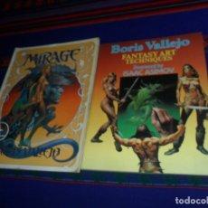 Cómics: BORIS VALLEJO FANTASY ART TECHNIQUES FOREWORD BY ISAAC ASIMOV Y MIRAGE. PAPER TIGER 1985. RAROS.. Lote 183350868