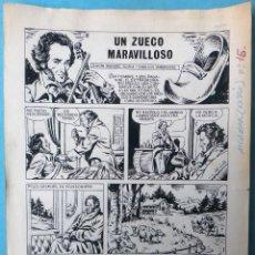 Cómics: DIBUJO ORIGINAL PLUMILLA AMBROS EL ZUECO MARAVILLOSO 4 HOJAS O PLANCHAS ORIGINAL, M6. Lote 183583965