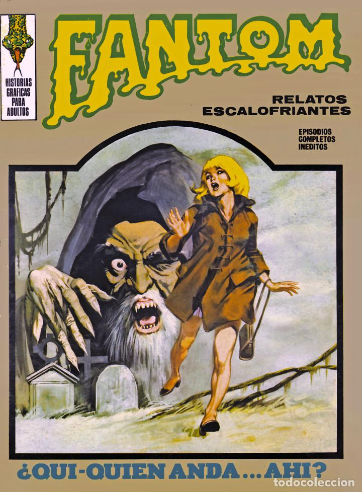 Cómics: LOPEZ ESPI - Original cover painting used in Fantom #11 (Vértice, 1973) and Professor Zamorra #98 - Foto 3 - 183600816