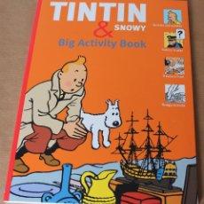 Cómics: ---- EN INGLÉS ---- TINTIN & SNOWY, BIG ACTIVITY BOOK - NUEVO. Lote 183809896