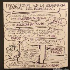Cómics: PUBLICIDAD EL PAPUS POR EL GRAN VÁZQUEZ. Lote 183810108