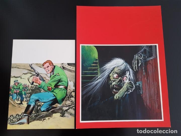 Cómics: PORTADA ORIGINAL DE LOPEZ ESPI ESCALOFRÍO Nº 54 - Foto 8 - 186074877