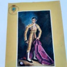 Cómics: CARTEL ORIGINAL PINTADO A MANO DE UN LICOR DE OSBORNE CON LA IMAGEN DE MANOLETE. Lote 186098591