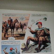 Cómics: PAGINA ORIGINAL DEL COMIC SOBRE LA VIDA DE FRANCISCO FRANCO, SOLDADO INVICTO, CORTES, ALACREU, FREJO. Lote 187455766