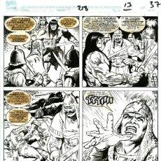 Cómics: DIBUJO ORIGINAL DE ESTEBAN MAROTO - SAVAGE SWORD OF CONAN N.218 P.13/37, MARVEL COMICS. Lote 189361136
