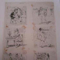 Cómics: RAMÓN CILLA, PÁGINA ORIGINAL DE HISTORIETA PIONERA EN LA HISTORIA DEL COMIC ESPAÑOL. Lote 189690856