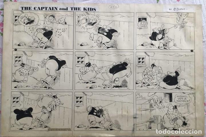 PÁGINA ORIGINAL DE LA SERIE THE CAPTAIN AND THE KIDS POR RUDOLPH DIRKS (1939) (Tebeos y Comics - Art Comic)