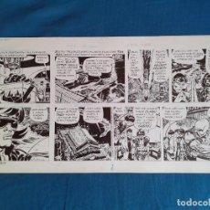 Cómics: ORIGINAL FRANK ROBBINS - JOHNNY HAZARD 1974 FIRMADA 29 X 58 CM LOTUS NEGRO . Lote 191366907