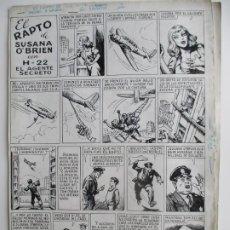 Cómics: PERTEGÁS (FIRMADO HENRY) H-22 EL AGENTE SECRETO: EL RAPTO DE SUSANA O´BRIEN: 2 PLANCHAS ORIGINALES.. Lote 191577122