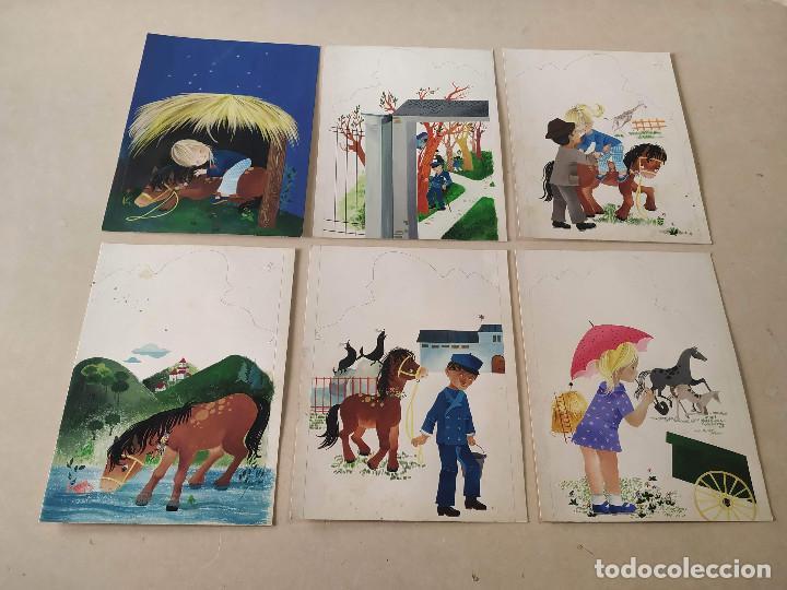 Cómics: DIBUJOS ORIGINALES DE CONCHITA MATAMOROS (14) - CUENTO MILA Y SU PONEY - Foto 3 - 193115438
