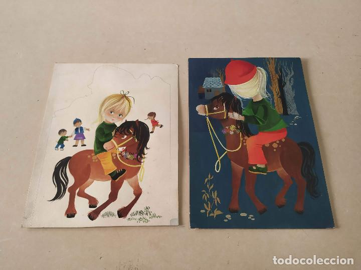 Cómics: DIBUJOS ORIGINALES DE CONCHITA MATAMOROS (14) - CUENTO MILA Y SU PONEY - Foto 4 - 193115438