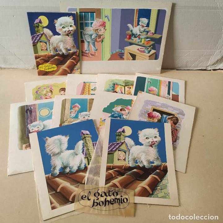 DIBUJOS ORIGINALES DE Mª DELS ANGELS (11) - CUENTO EL GATO BOHEMIO (Tebeos y Comics - Art Comic)