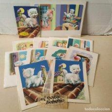 Cómics: DIBUJOS ORIGINALES DE Mª DELS ANGELS (11) - CUENTO EL GATO BOHEMIO. Lote 193115802