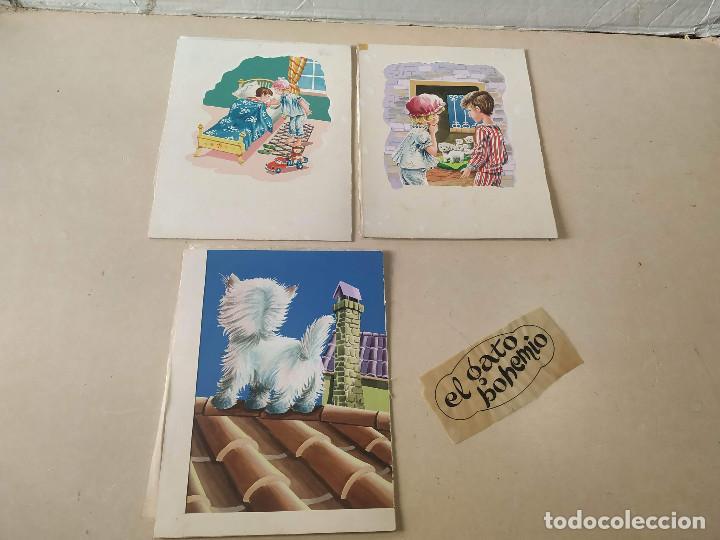 Cómics: DIBUJOS ORIGINALES DE Mª DELS ANGELS (11) - CUENTO EL GATO BOHEMIO - Foto 4 - 193115802