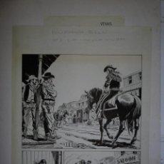 Cómics: BUFFALO BILL - NÚMERO 1 ''LA MUJER VIUDA'' - DE JULIO VIVAS - 20 PÁGINAS - 48 X 30CM. Lote 193556012