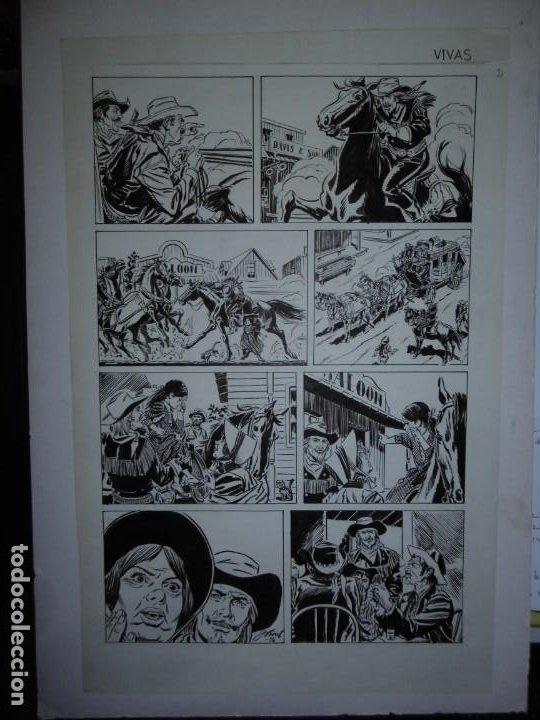 Cómics: BUFFALO BILL - NÚMERO 1 LA MUJER VIUDA - DE JULIO VIVAS - 20 PÁGINAS - 48 x 30cm - COMPLETO - Foto 2 - 193556012