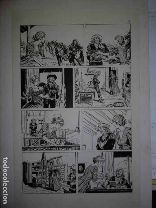 Cómics: BUFFALO BILL - NÚMERO 1 LA MUJER VIUDA - DE JULIO VIVAS - 20 PÁGINAS - 48 x 30cm - COMPLETO - Foto 4 - 193556012
