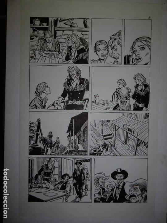 Cómics: BUFFALO BILL - NÚMERO 1 LA MUJER VIUDA - DE JULIO VIVAS - 20 PÁGINAS - 48 x 30cm - COMPLETO - Foto 5 - 193556012