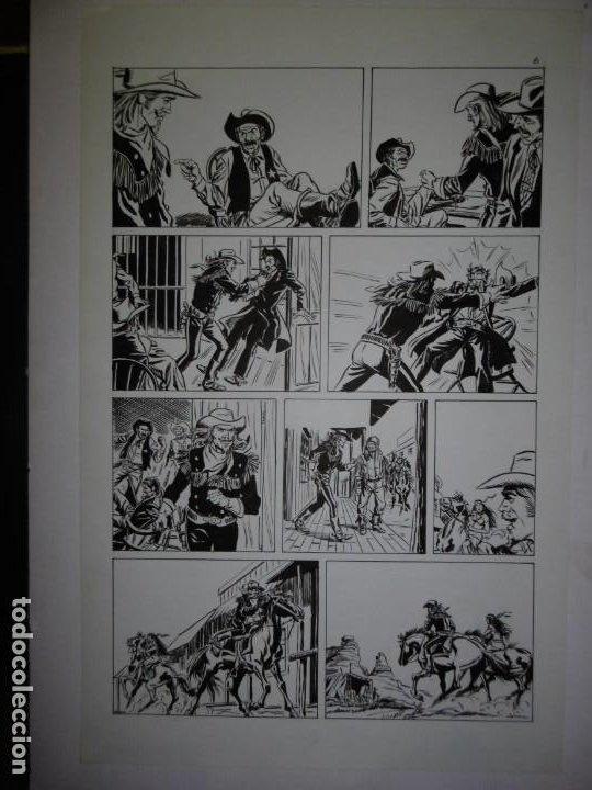 Cómics: BUFFALO BILL - NÚMERO 1 LA MUJER VIUDA - DE JULIO VIVAS - 20 PÁGINAS - 48 x 30cm - COMPLETO - Foto 6 - 193556012