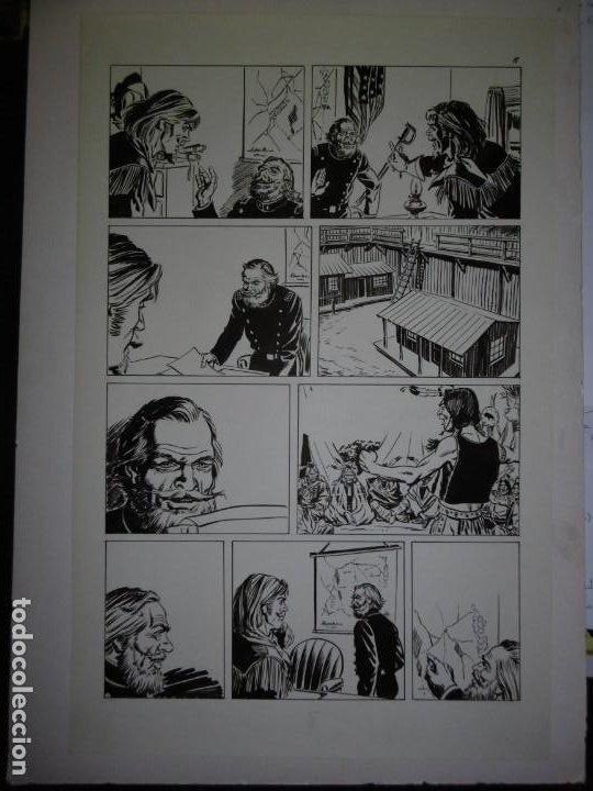 Cómics: BUFFALO BILL - NÚMERO 1 LA MUJER VIUDA - DE JULIO VIVAS - 20 PÁGINAS - 48 x 30cm - COMPLETO - Foto 8 - 193556012