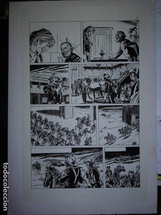 Cómics: BUFFALO BILL - NÚMERO 1 LA MUJER VIUDA - DE JULIO VIVAS - 20 PÁGINAS - 48 x 30cm - COMPLETO - Foto 9 - 193556012