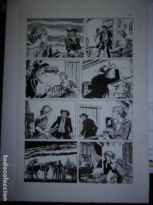 Cómics: BUFFALO BILL - NÚMERO 1 LA MUJER VIUDA - DE JULIO VIVAS - 20 PÁGINAS - 48 x 30cm - COMPLETO - Foto 10 - 193556012