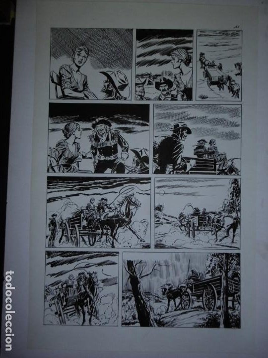 Cómics: BUFFALO BILL - NÚMERO 1 LA MUJER VIUDA - DE JULIO VIVAS - 20 PÁGINAS - 48 x 30cm - COMPLETO - Foto 11 - 193556012