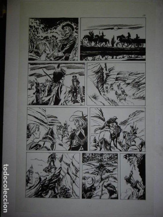 Cómics: BUFFALO BILL - NÚMERO 1 LA MUJER VIUDA - DE JULIO VIVAS - 20 PÁGINAS - 48 x 30cm - COMPLETO - Foto 13 - 193556012